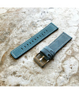 Light Blue Leather Watch Band Strap for Garmin Darth Vader & First Aveng... - $25.99