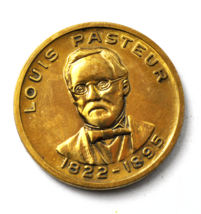 Louis Pastor Pioneered Germ Theory of Disease Medal 1822-1895 31mm - $6.92
