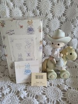 Enesco Precious Moments Happy Trails 1997 Members Only Figure PM981 - $14.54