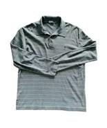 POLO RALPH LAUREN Mens Cotton Polo Long Sleeve Shirt Blue White Stripe S... - $15.35
