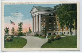Alumnae Hall Hood College Frederick Maryland 1924 postcard - $6.50
