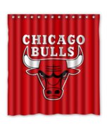 Chicago Bulls 11 Shower Curtain Waterproof Polyester Fabric For Bathroom  - $33.30+