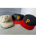 Pittsburgh Pirates Fitted Hat Cap New Era MLB 7 1/2 + Two Snapbacks - $48.96