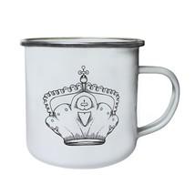 Crown King Queen Art Funny Novelty Retro,Tin, Enamel 10oz Mug a582e - $13.13