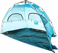 AfterGen Easy Setup Beach Tent Portable Pull to Open Sun Shelter (Large ... - $55.19 CAD