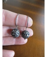 Vintage Tribal Artisan Hand Crafted Sterling Ball Filigree Hook Earrings... - $45.00