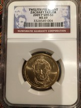 NGC MS 69 2009 P SMS Zachary Taylor $1 – 12th President - $70.00