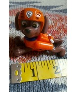 Puppy DOG Brown with orange hat hard Plastic Toy Figurine Cake Topper • ... - $5.10