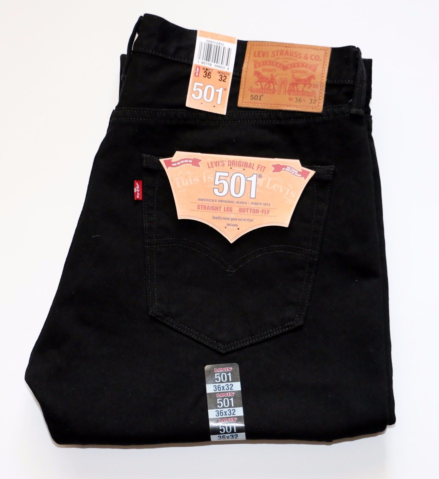 1ab8ec9cc60 S l1600. S l1600. LEVIS 501 MADE IN USA ORIGINAL FIT MEN'S JEANS NEW Cone  Mills White Oak Black