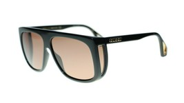 NEW Gucci GG0467S 002 Black Frame Red Lens Square Sunglasses Authentic - $222.13