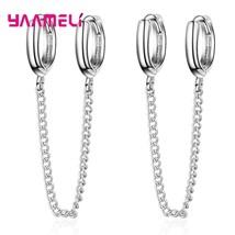 925 Sterling Silver Double Piercing Mini Small Huggie Hoop Earring Tasse... - $8.08