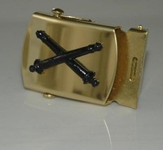 US Army Field Artillery Blue, Black or Khaki Belt & Brass Buckle NEW!!! - $17.81
