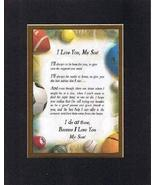 Touching and Heartfelt Poem for Sons - Because I Love You Son Poem on 11... - $15.79