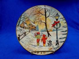 Dom Mingolla Christmas Plate ~ 1975, Walking Home On A Snowy Lane, Gorha... - $12.69