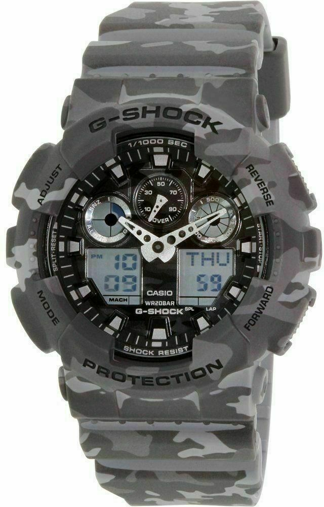 Primary image for New Casio G-Shock GA100CM-8A Camouflage Grey Watch