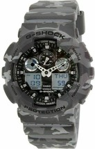 New Casio G-Shock GA100CM-8A Camouflage Grey Watch  - $140.29
