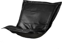 Howard Elliott Avanti Pouf Chair Cushion Black Faux Leather - $719.00
