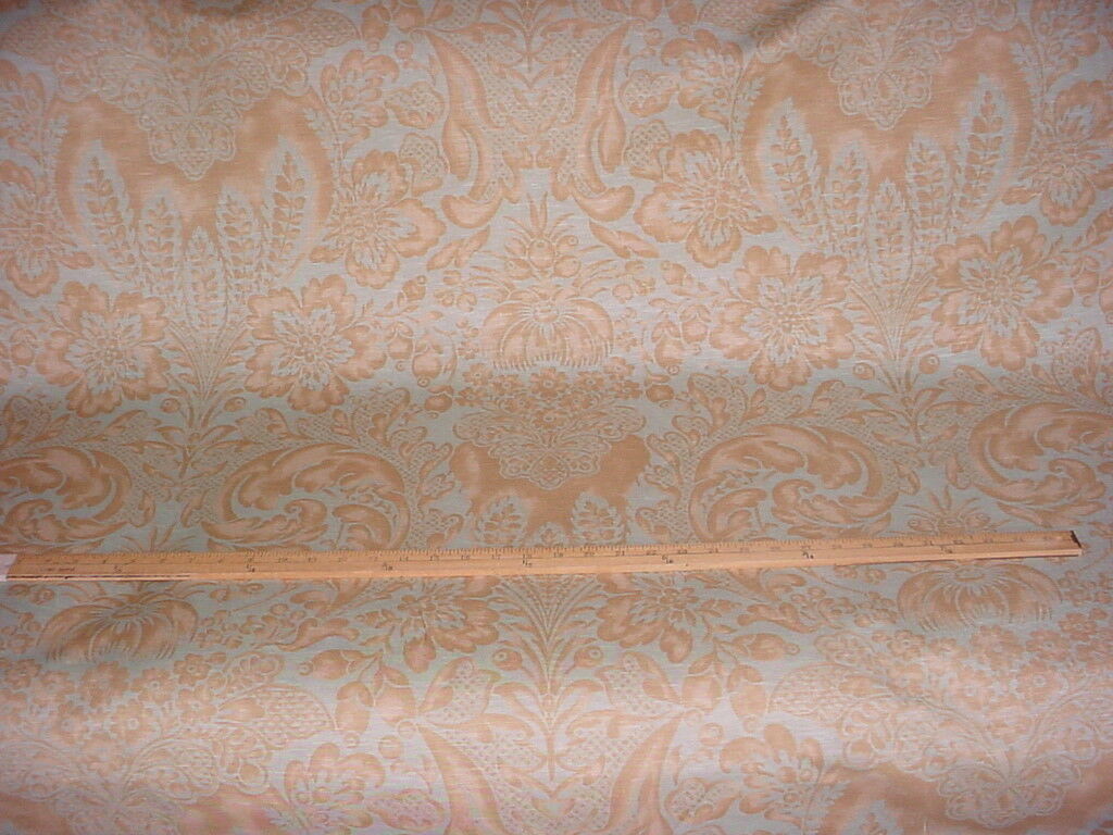 Primary image for 6-7/8Y BEAUTIFUL COWTAN TOUT FIORENTINA FLORAL DAMASK LINEN UPHOLSTERY FABRIC
