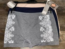 Daisy Fuentes ~ Womens Boyshorts Underwear Panties Nylon Blend 3-Pair (A... - $18.69