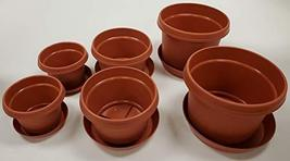 Set of 6 Austin Planter with Saucer Qty 2 7 inch, Qty 2 9 inch, Qty 2 11... - $19.55