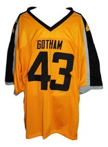 Troy Polamalu #43 Gotham Rogues New Men Football Jersey Yellow Any Size image 4