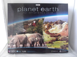 Puzzle 1500 Pieces Planet Earth BBC 3 Puzzles in Box Forest African Seas... - $22.27