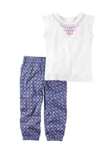 Carter's Girls 2 Piece Open back Top And Printed Jogger, 2T - $15.83