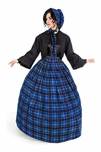 Reminisce Scottish Tartan Skirt and Jacket Set (S/M, Blue)