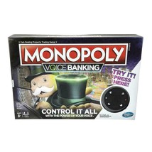 Hasbro Monopoly Voice Banking Electronic Family Board Game (2-4 Players)... - $27.10