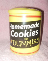 HOMEMADE COOKIES FOR DUMMIES STONEWAR COOKE JAR CANISTER MINT - $28.99