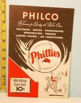 1954 Philadelphia Phillies Baseball Program vs Cubs May 11th - $37.62