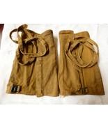 Vintage Canvas Boot Leg Spats Gaiters Chaps Pat. 12.25.06 - $37.87