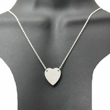 Used Brand Accessories Women Silver Nc Gucci Heart Plate Necklace 925 Sv925 F/S - $306.29