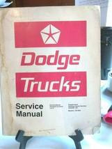 1977 Dodge Trucks Service Shop Manual 100-800 Conventional Forward Contr... - $29.02