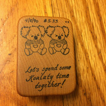 Koala Bear Twins Rubber Stamp Valentines Day Koalaty Time Together Comotion Rare - $28.69