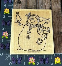 Stampin' Up! Winter Snowman Christmas Rubber Stamp 2001 Country Stitch #N148 - $5.20