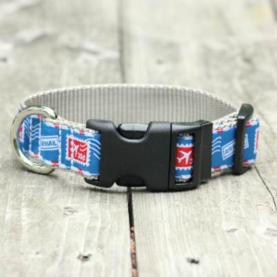 Airmail Jacquard Adjustable Dog Collar / Made in Japan
