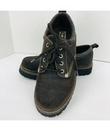 SKECHERS SN7914 Chocolate Brown Leather Low Ankle Hiking Boot Oxford Sz ... - $49.49