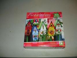 Puzzlebug 500 Piece Puzzle - Painted Birdhouses - Brand New, Sealed - $7.91