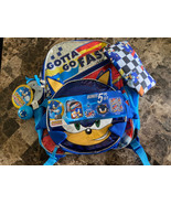 Sonic The Hedgehog Gotta Go Fast 5 Piece Backpack Set, Insulated Lunch Bag - $29.69