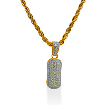 """925 Sterling Silver Gold Plated Custom Iced Out Bubble Letter """"I"""" with 24"""" Chain - $79.99"""
