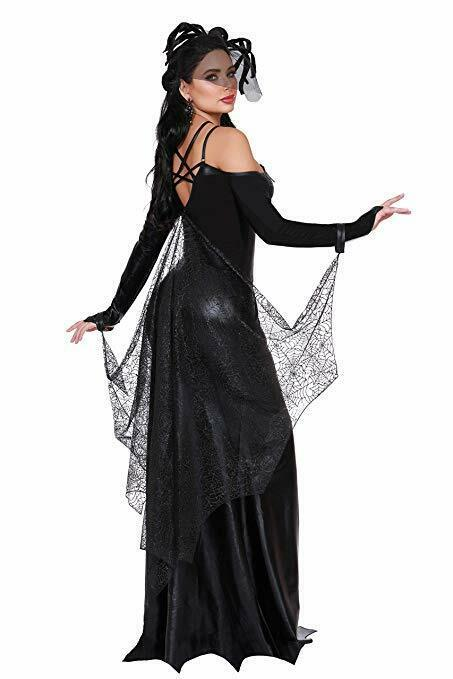 Dreamgirl Veuve Noire Toile Araignée Robe Sexy Adulte Femmes Halloween Costume