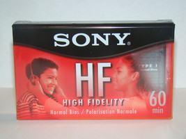 Sony Hf 60Min Normal Bias High Fidelity Audio Cassette (New) - $5.00