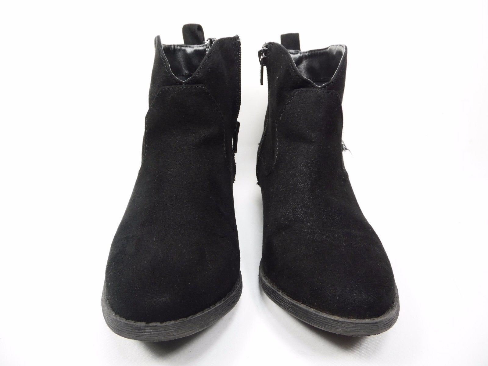 Arizona Booker Girls Fringe Booties Little Kids Black Size 4M