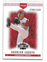 2007 Topps Triple Threads Red Bronson Arroyo Card-#/1350! - $1.24