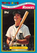 1988 Topps Toys R Us Rookies #22 Matt Nokes > Detroit Tigers - $0.99