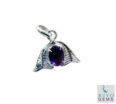 elegant Amethyst 925 Sterling Silver Purple Pendant Natural jewellery US... - $29.99
