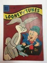 LOONEY TUNES #184  SHUTTING THE LUGGAGE COVER  DELL  SILVER-AGE  1957 - $14.20