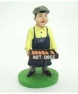 "Baseball Stadium Hot Dog Vendor Figurine in Original Box 5.5"" Hartland 2006 - $15.04"