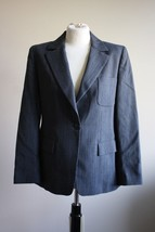 Max Mara US 8 IT 42 One Button Black Women's Wool Blend Suit Jacket Blaz... - $45.60
